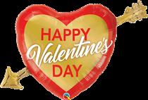 "Valentine's Golden Arrow 39"" Foil Balloon"