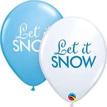 "NEW Christmas Let It Snow 11"" Latex Balloons 25pk"