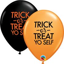 "Halloween Trick Or Treat Yo Self 11"" Latex Balloons 25pk"