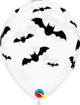 Halloween bats 11 inch latex party balloons 6 Pack