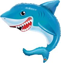 """Smiling Shark 36"""" Foil Balloon"""
