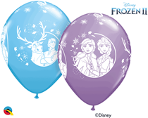 "Disney Frozen 2 Printed 11"" Latex Balloons 25pk"