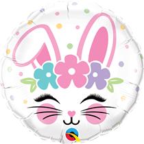 """Easter Bunny Face 18"""" Foil Balloon"""
