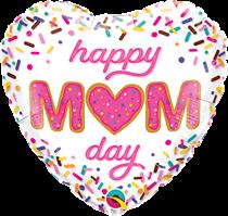 "Happy Mum Day Sprinkles 18"" Heart Foil Balloon"