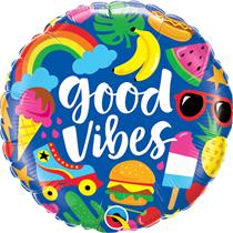 "Good Vibes Summer 18"" Foil Balloon"