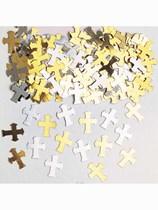 Gold & Silver Cross Confetti