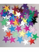 Multi-Coloured Jumbo 2cm Stardust Confetti 14g