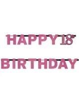 Pink Celebration Happy 18th Birthday Letter Banner