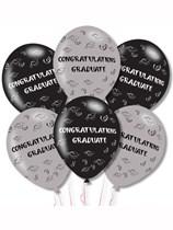"Congratulations Graduate 11"" Latex Balloons 6pk"