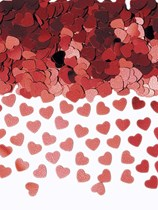 Red Metallic Sparkle Hearts Metallic Confetti 14g