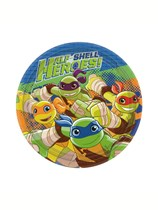 "TMNT Half Shell Heroes 7"" Paper Plates 8pk"