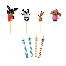 Bing Character Picks with Candles 4pk