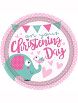Elephant On Your Christening Day Paper Plates 8pk