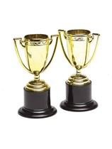 Gold Plastic Trophies 4pk