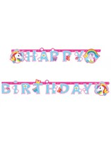 Unicorn Party Happy Birthday Jointed Banner