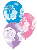 "Shimmer & Shine 11"" Latex Balloons 6pk"