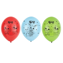 "Bing 11"" Latex Balloons 6pk"