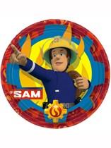 "Fireman Sam 9"" Paper Plates 8pk"