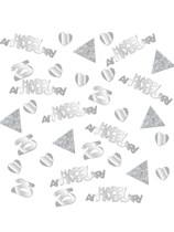 Sparkling 25th Silver Anniversary Confetti 28g
