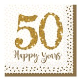 50th Golden Wedding Anniversary Lunch Napkins 16pk