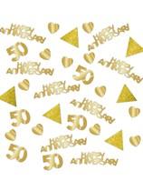 Sparkling 50th Golden Wedding Anniversary Confetti 28g