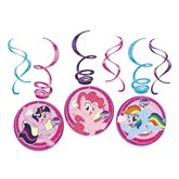 My Little Pony Swirl Decorations 6pk