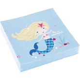 Be A Mermaid Lunch Napkins 20pk