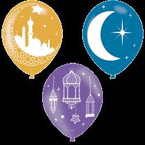 "Eid 11"" Latex Balloons 6pk"
