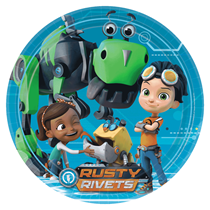 Rusty Rivets Party Paper Plates 8pk