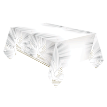Confirmation Doves Plastic Party Tablecover