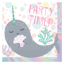 Narwhal Party Lunch Napkins 16pk