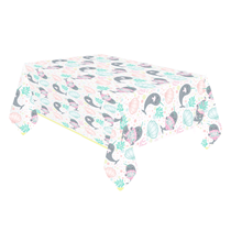 Narwhal Party Plastic Tablecover 1.8 x 1.2M