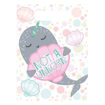 Narwhal Party Plastic Loot Bags 8pk