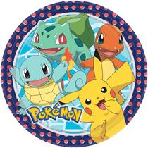Pokemon Party 23cm Paper Plates 8pk