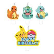 Pokemon Happy Birthday Cake Candles 4pk