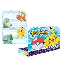 Pokemon Party Invitations & Envelopes 8pk