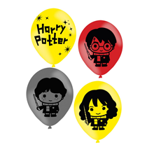 Harry Potter 4 Sided Assorted Latex Balloons 6pk