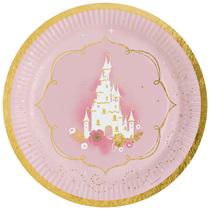 Swan Princess Party Foil Stamped 23cm Paper Plates 8pk