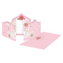 Swan Princess Party Invitations & Envelopes 8pk