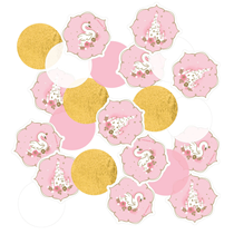 Swan Princess Pink, White & Gold Confetti 14g