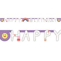 Peppa Pig Happy Birthday Letter Banner