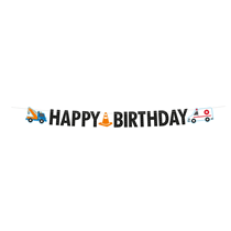 On The Road Happy Birthday Letter Banner 3M