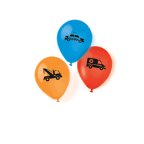 """On The Road Vehicles 11"""" Latex Balloons 6pk"""