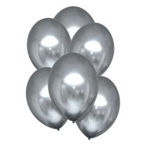 "Satin Luxe Platinum 11"" Latex Balloons 6pk"