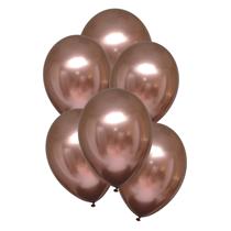 "Satin Luxe Rose Copper 11"" Latex Balloons 6pk"