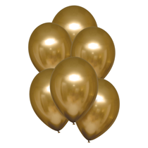"Satin Luxe Gold 11"" Latex Balloons 6pk"