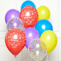 "Happy Birthday DIY 11"" Latex Balloons 10pk"