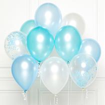 "Blue DIY 11"" Latex Balloons 10pk"