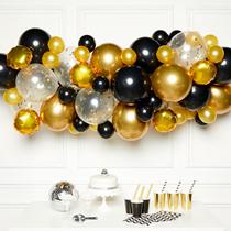 Black & Gold DIY Garland Latex Balloons