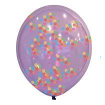 """Multi Coloured Confetti 11"""" Latex Balloons 6pk"""
